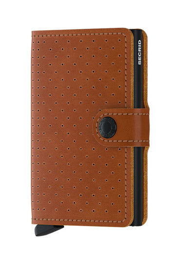 Wallet - Secrid Miniwallet Perforated Cognac