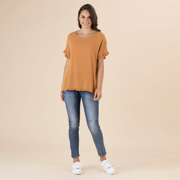 Top - Frilled Hem by Threadz Toffee