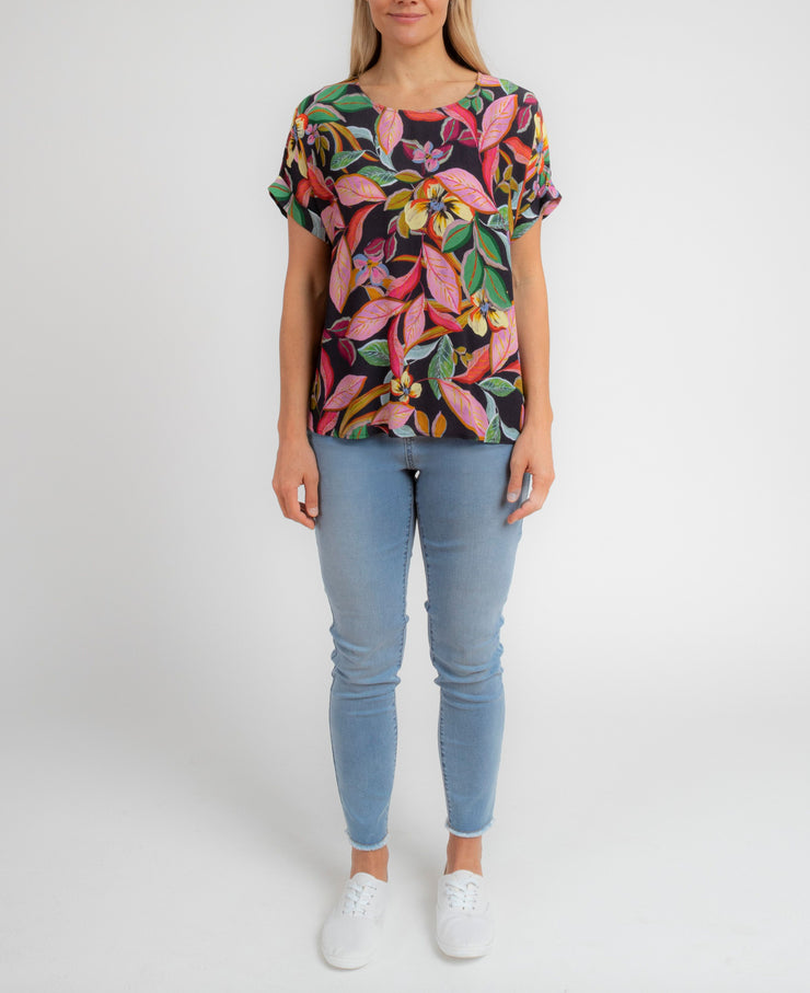 Top - Jungle Fever Dolman Slv by JUMP