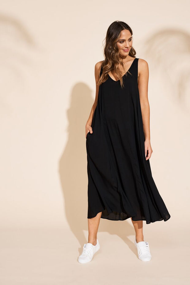 Dress - Savanna Maxi Black