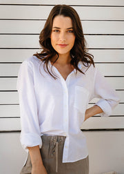Top - Angelica White 100% Cotton Shirt