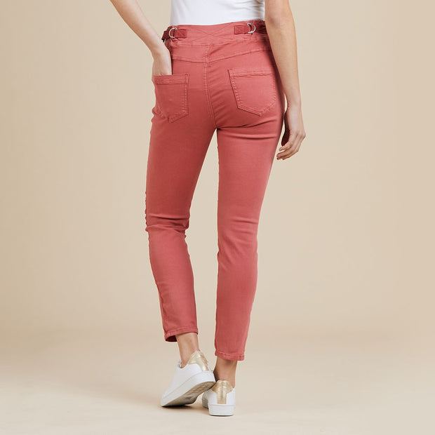 Pant - Tie Front Gathered Jogger Jean