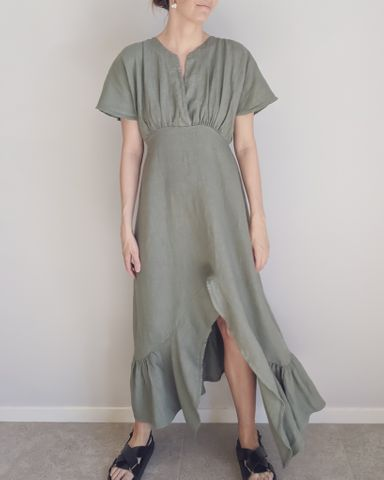 Dress - Novah 100% Italian Linen by Purolino