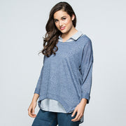 Top - Navy Stripe 2 in 1 by Threadz