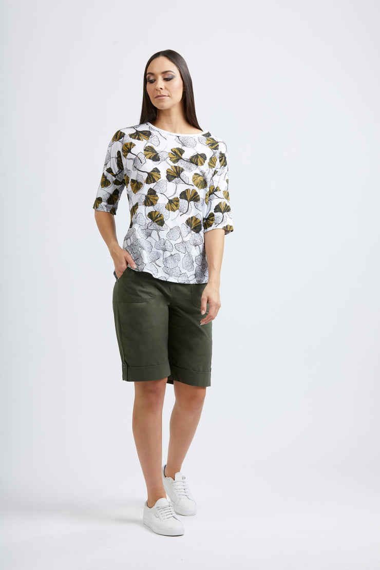 Top - Art Smart Gingko Tee by FOIL