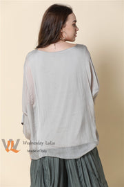Top - Italian Plain Silk