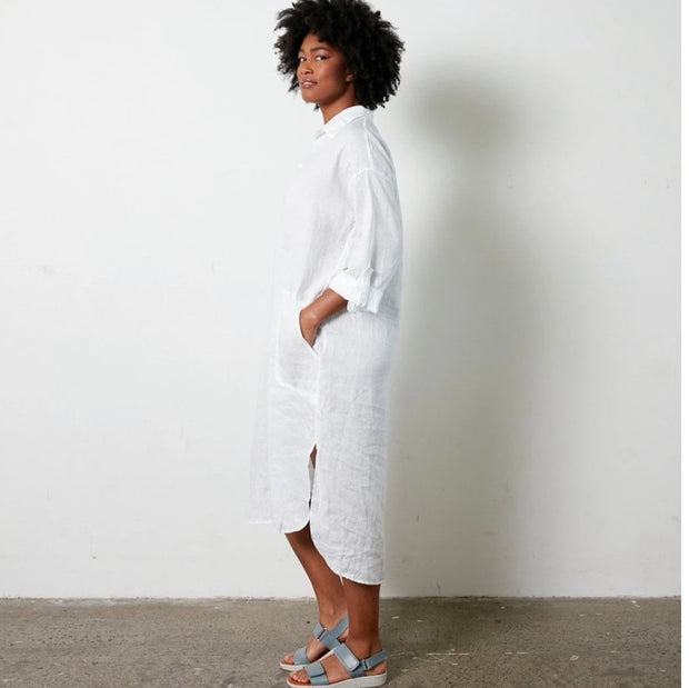 Dress - Soft Italian Linen Long Shirt