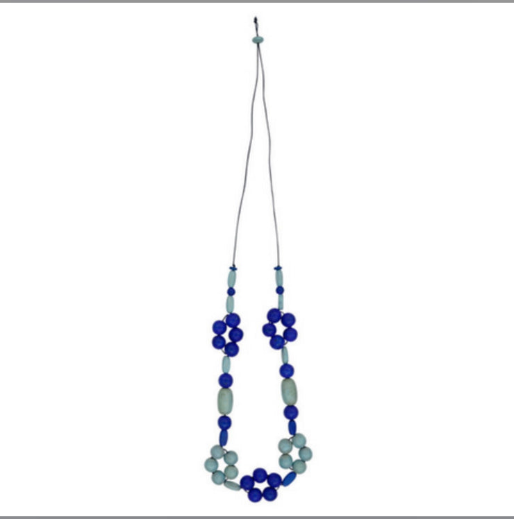 Necklace - Multi Daisy Navy