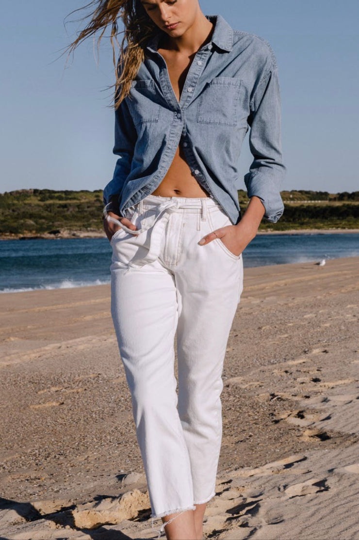 Pant - Tailored White Jeans by Dricoper