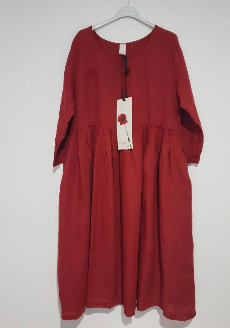 Dress - Montaigne Italian Linen with Side Pockets