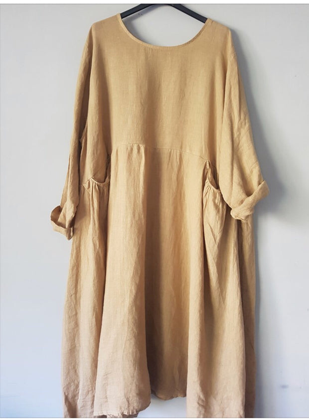 Dress - Loose Italian Linen Baggy Style