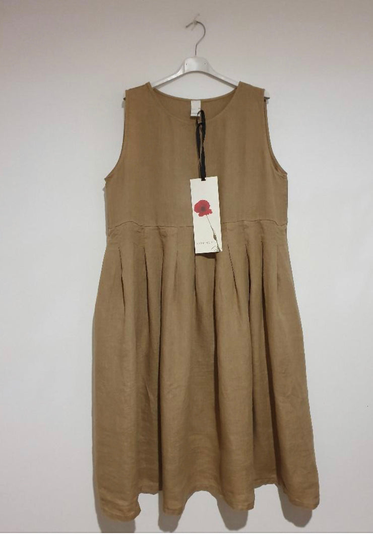 Dress - Montaigne Italian Linen Sleeveless Baggy