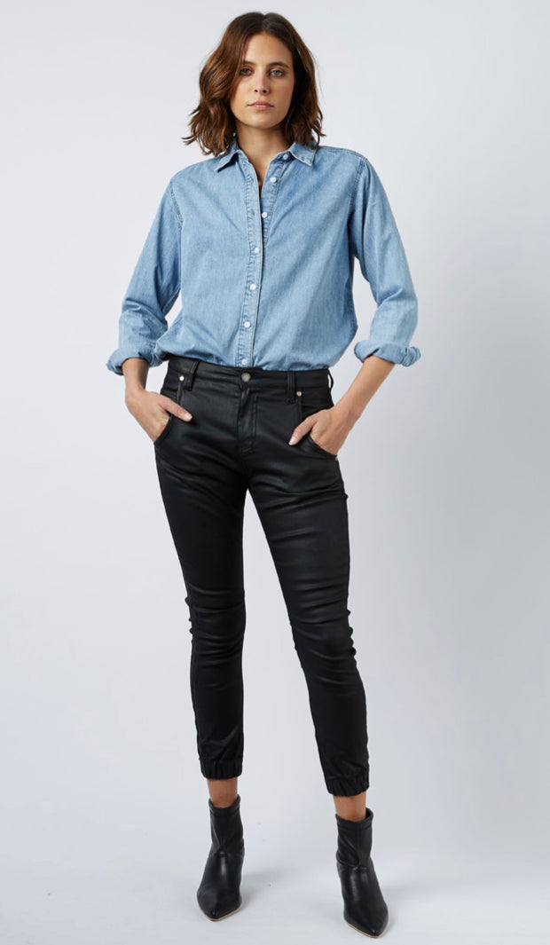 Top - Valiant Loose Denim Shirt by Dricoper