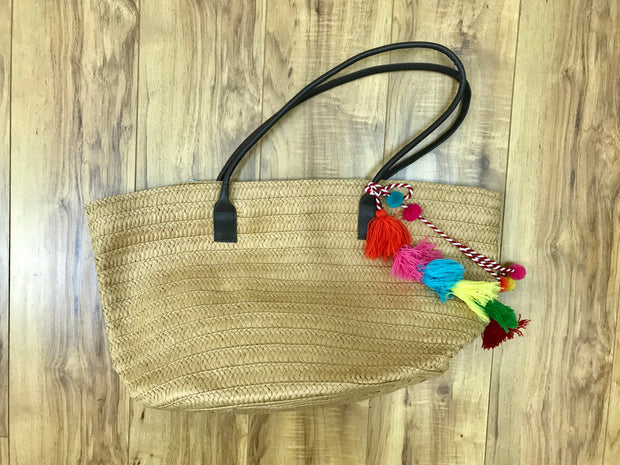 Bag - Tassel Detail Beach with Zipper