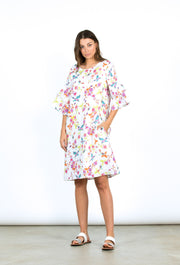 Dress - Swallows Print Linen