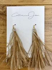 Earring - Rihanna Feather Beaded