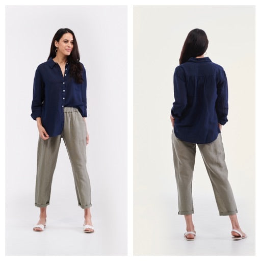 Top - Cayman Oragnic Linen Shirt