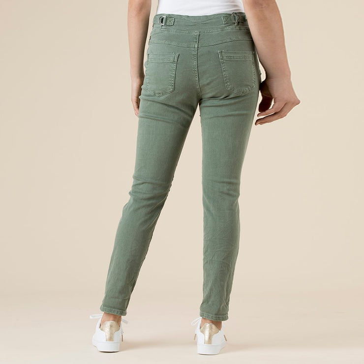 Pant - Tie Front Gathered Jogger Jeans