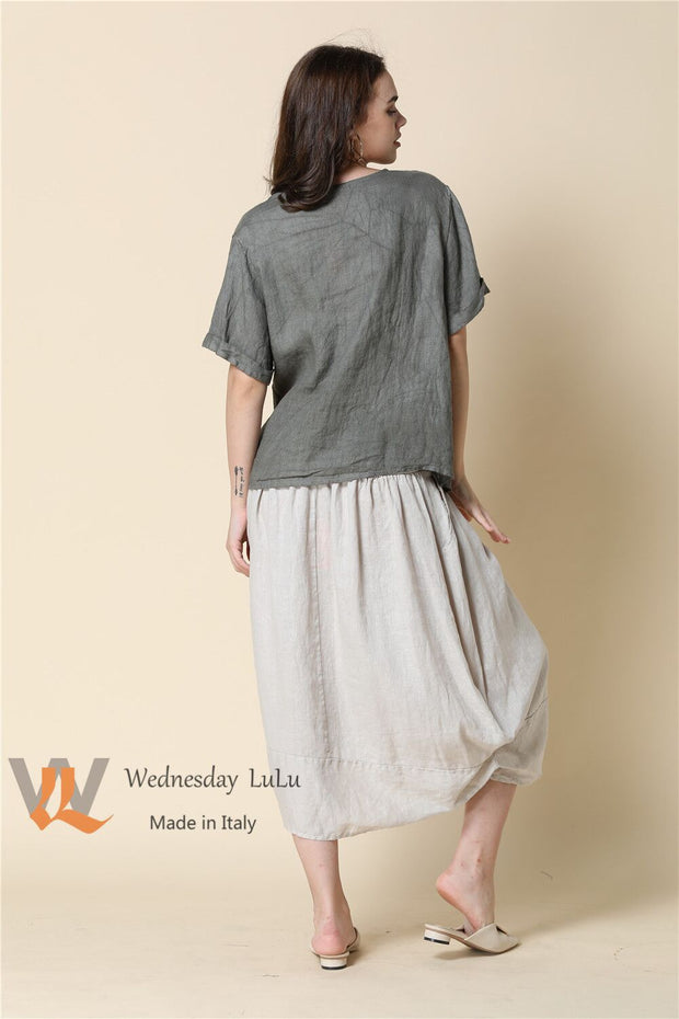 Skirt - Italian Linen with Pickups