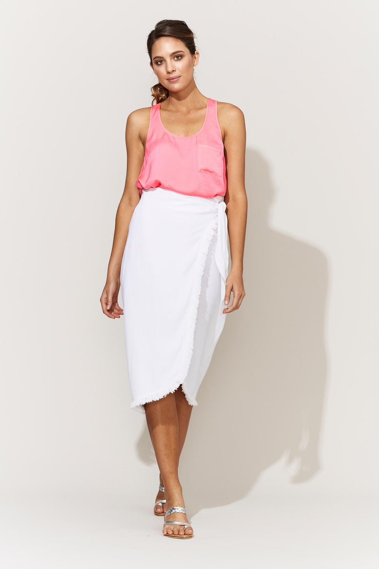 Skirt - Juarez Wrap in Clay White