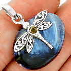 Pendant - Dragonfly Pietersite 925 Sterling Silver