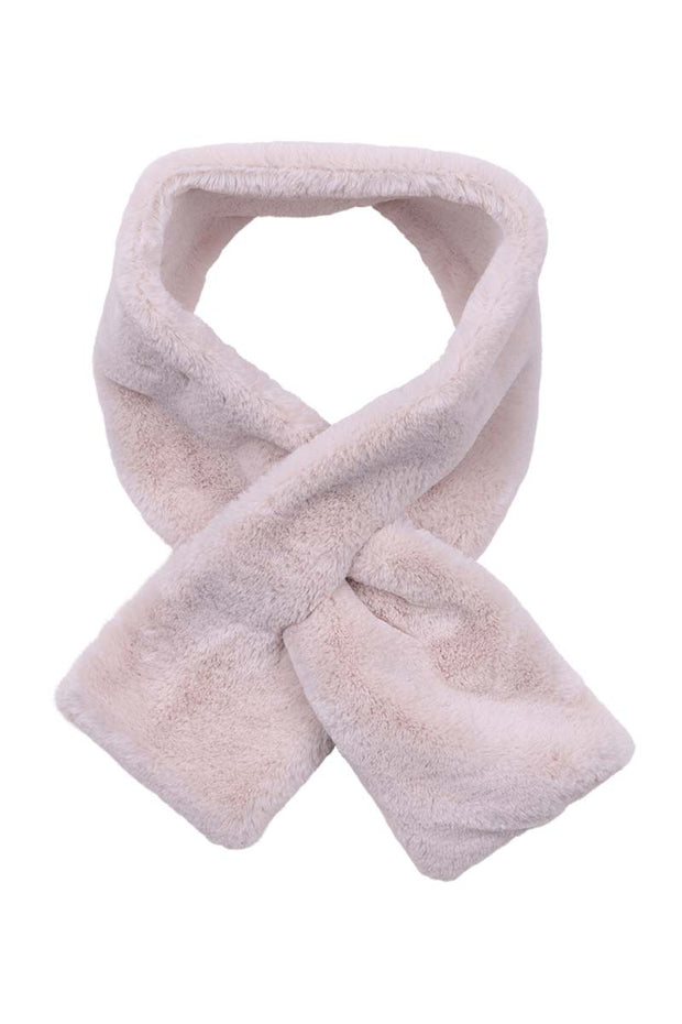 Scarf - Copenhagen Faux Fur Collar in Vanilla