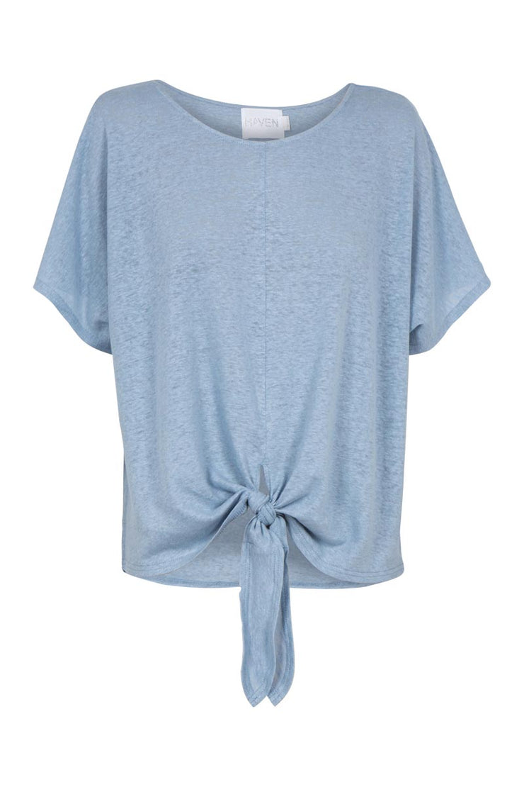 Top - Santorini Tie Cotton/Linen Blend