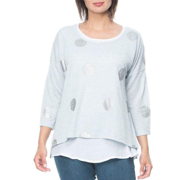 Top- Spot Double Layered by Threadz