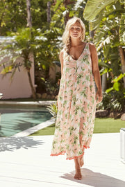 Dress - Sardinia Maxi Peach Palm