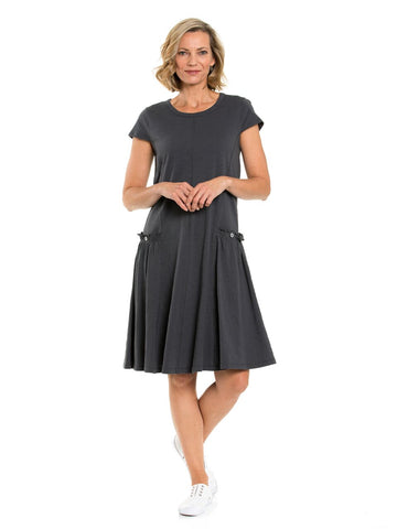 Dress - S/S Panelled in Slate