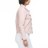 Jacket - Dusky Pink Collared Denim