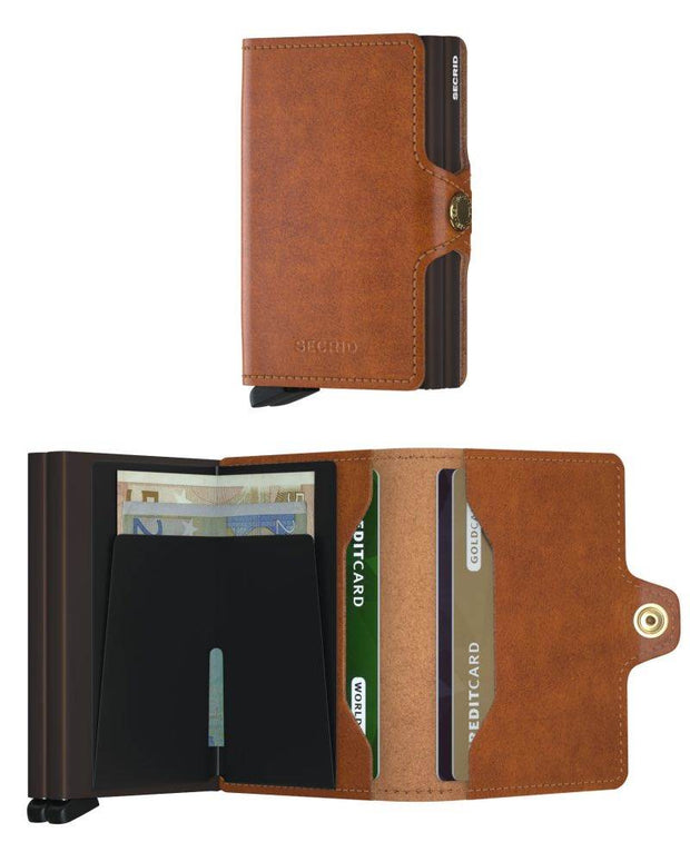 Wallet - Secrid Cognac-Brown Twin