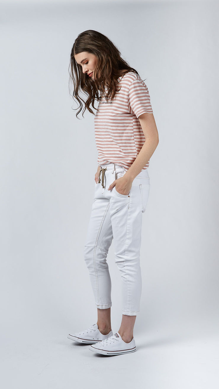 Pant - Active White Jeans by Dricoper