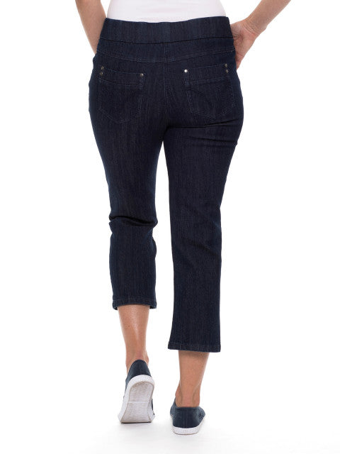 Pant - 3/4 Ink Pull on Jean by Yarra Trail