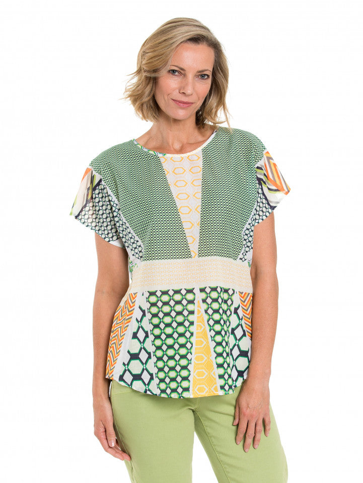 Top - Patchwork Print by Yarra Trail