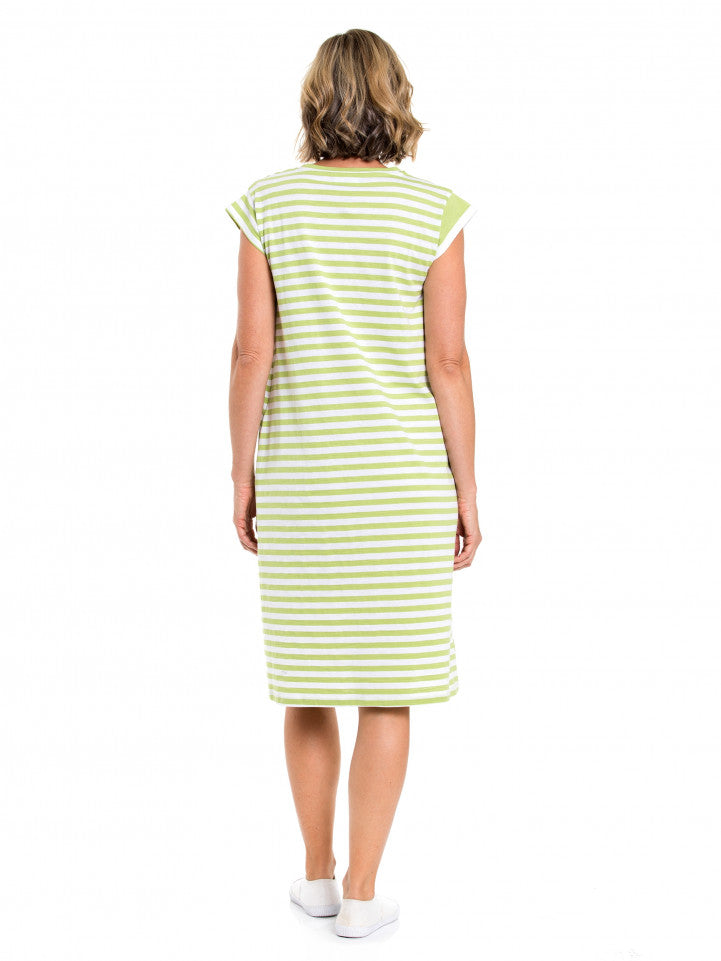 Dress - Stripe Panelled by Yarra Trail