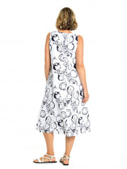 Dress - S/L Circle Print by Yarra Trail