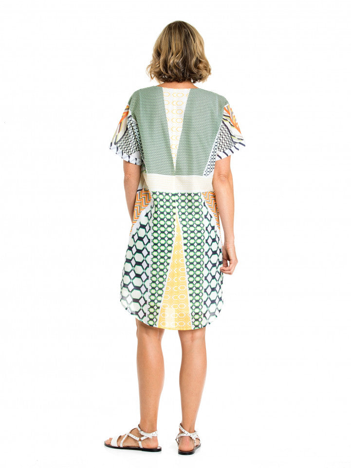 Dress - S/S Patchwork Print by Yarra Trail