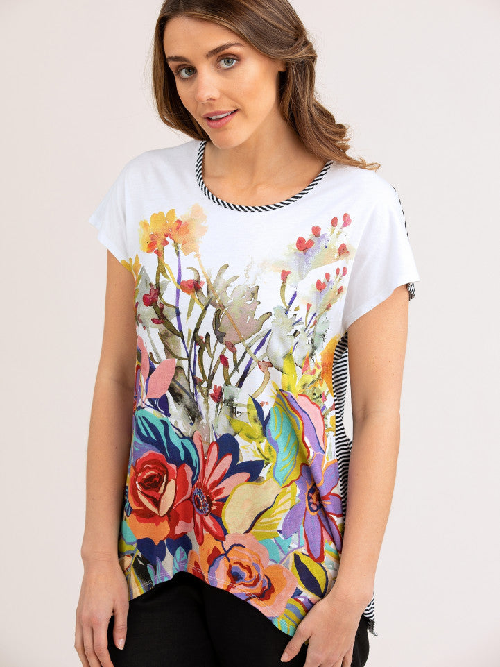 Top - Foliage Print Tee by Yarra Trail