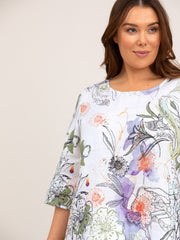 Top - Hothouse Print Blouse by Yarra Trail