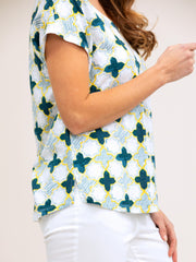 Top - Damask Print Tee by Yarra Trail
