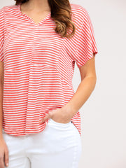 Top - Fine Stripe Quince Tee by Yarra Trail