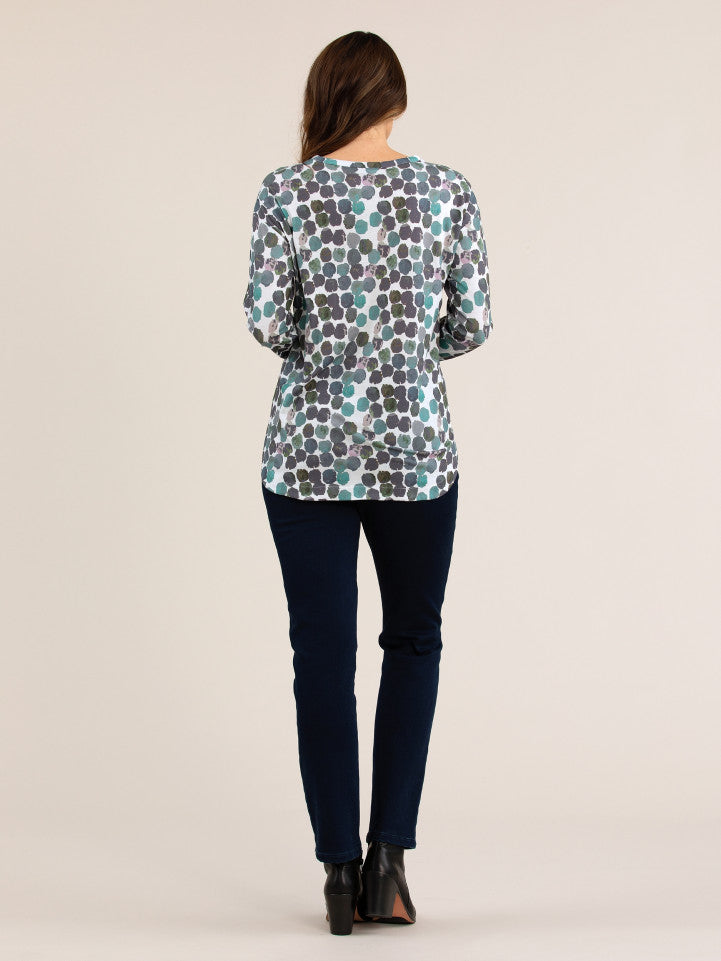 Top - Smudge Print Tee by Yarra Trail