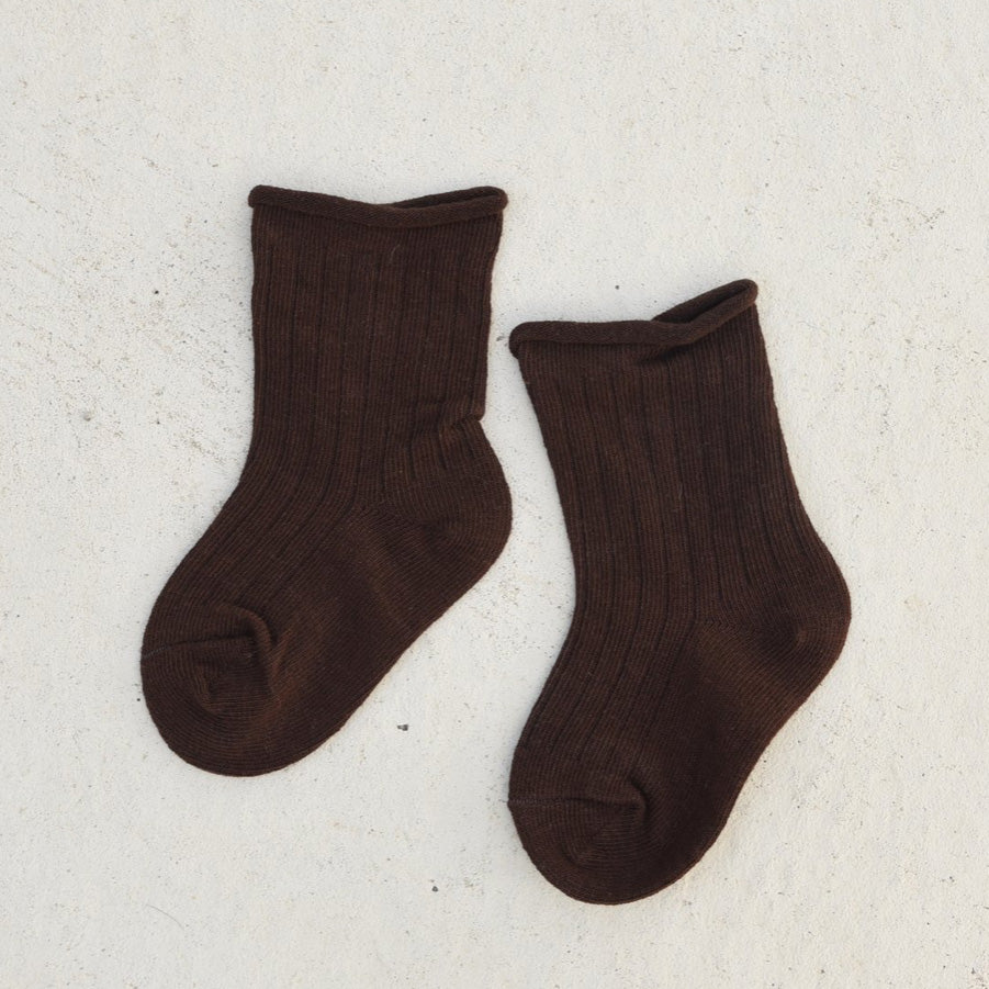 Load image into Gallery viewer, Ribbed Socks - Espresso