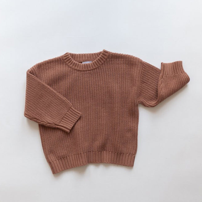 Chunky Knit Sweater - Rust