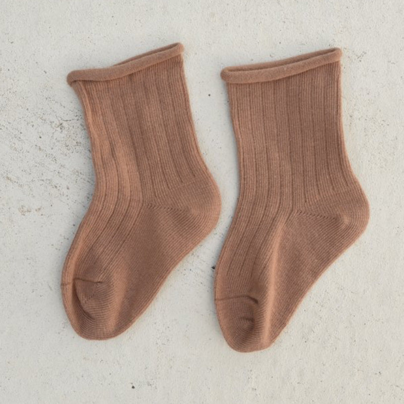 Ribbed Socks - Terracotta