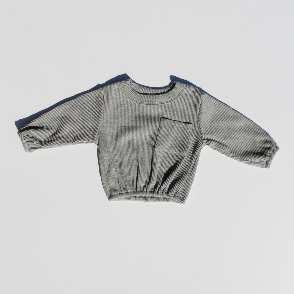 Load image into Gallery viewer, Basic Pocket Pullover - Grey