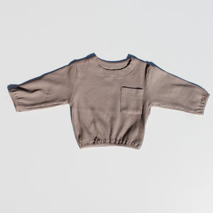 Basic Pocket Pullover - Taupe