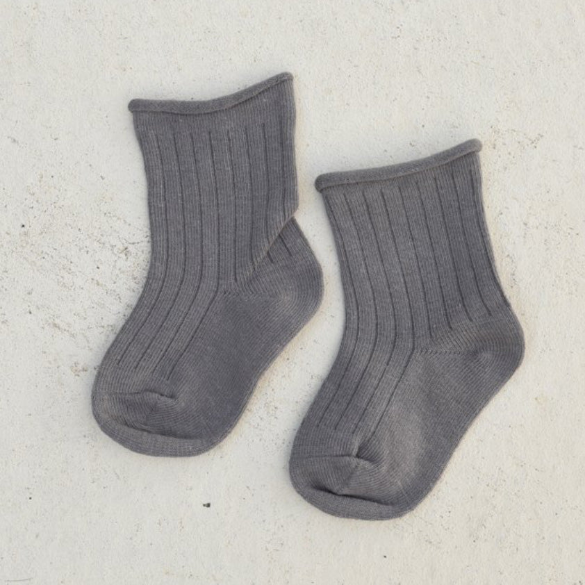 Ribbed Socks - Charcoal