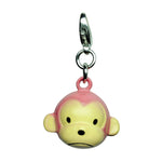 Pink Monkey Metal Jingle Bell Charm